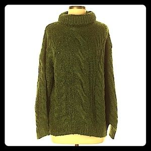 NWOT Cable Knit Sweater Lime Lush Boutique